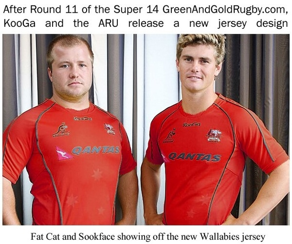 Green And Gold Rugby Gps 2018: Wallaby Jersey Re-vamp