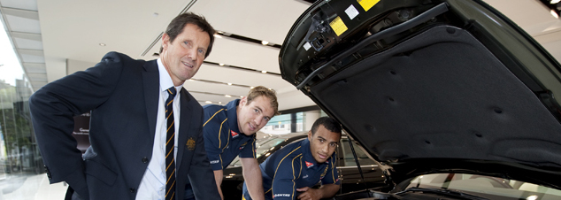 Robbie Deans, Rocky Elsom and Will Genia1