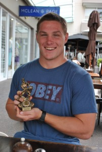 G&GR Wallaby Player of the Year - and trophy!