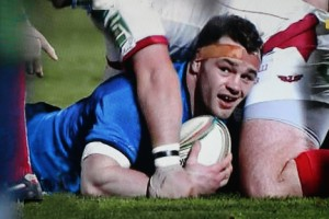 Cian Healy - over the line
