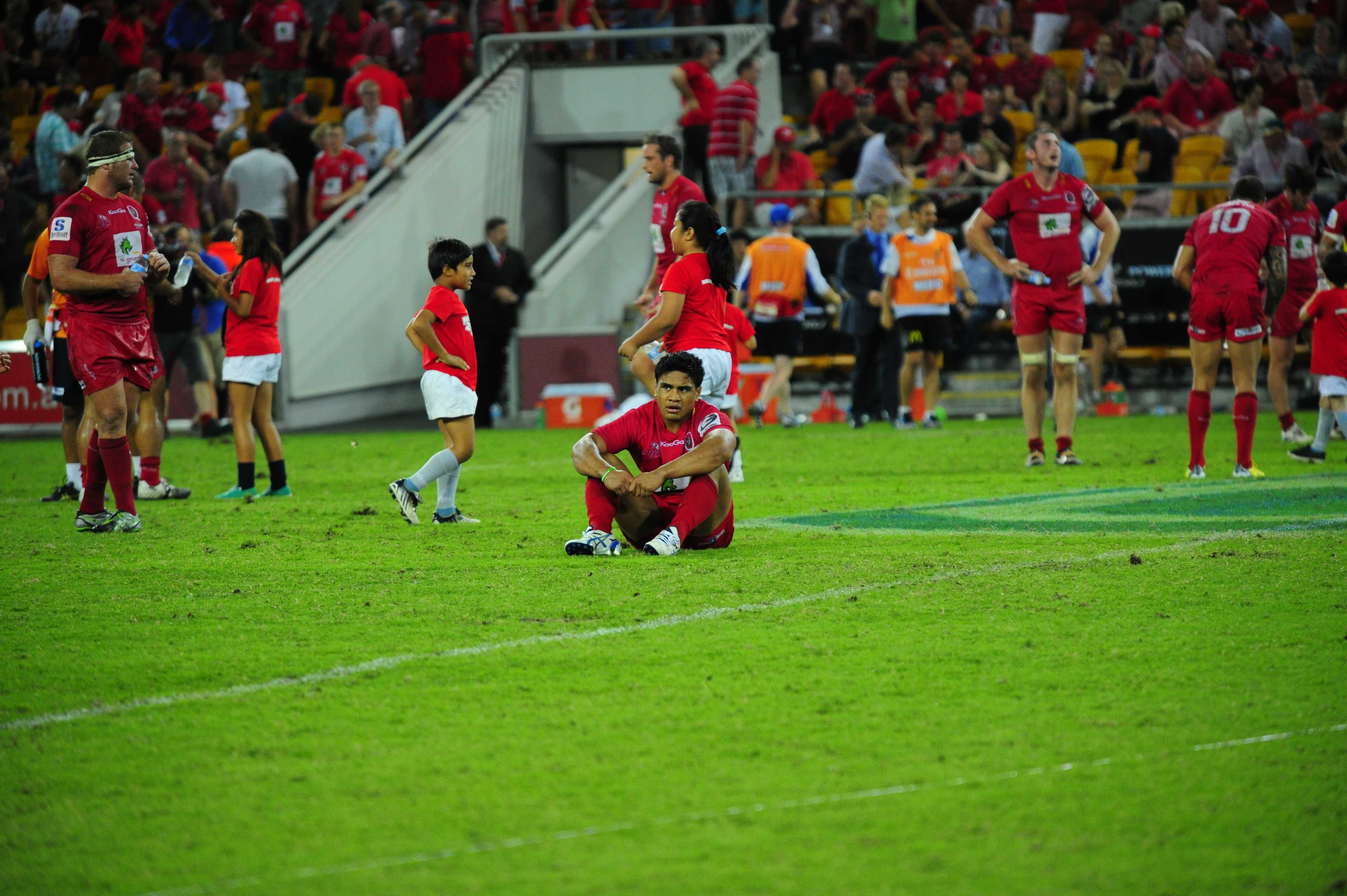 Ben Tapuai shows his disappointment