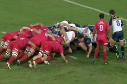 Reds Brumbies Scrum Slide
