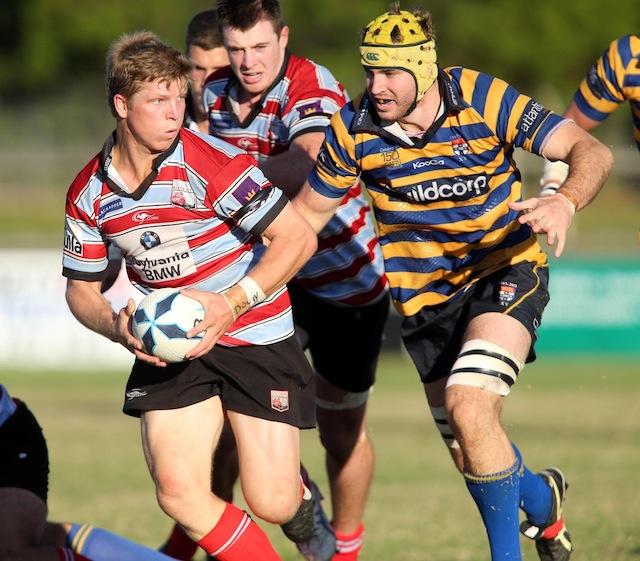 Green And Gold Rugby Gps 2018: Jono Hayes Runs The Ball A61V1063.JPG