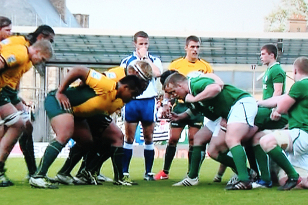 Oz Under 20 scrum v. Ireland