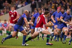 George North at full tilt 2  in Lions vs Force 2013