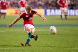 Halfpenny kicks in Lions vs Force 2013