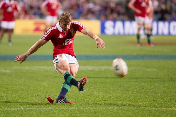 Halfpenny kicks in Lions vs Force 2013