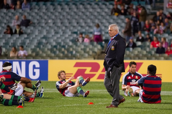 Gatland warm up   in Lions vs Force 2013