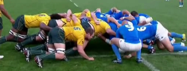 A really good scrum from Alexander and the Wallabies