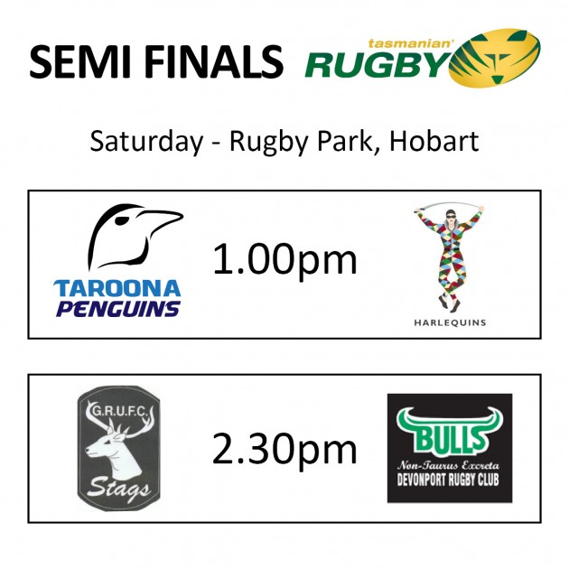 The Tassie Rugby Union semi finals line up