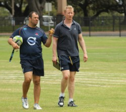 Michael Cheika and Leo Cullen