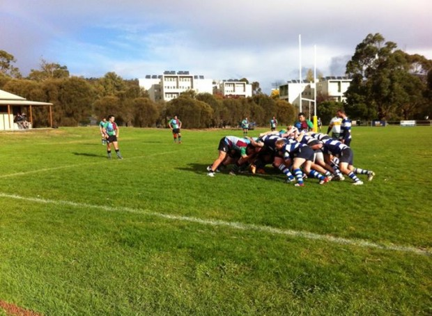 The Taroona scrum pressured early on