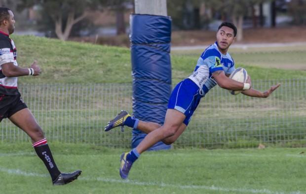 Parramatta wing Alex Samoa scores his second try_ photo by Debbie O'Connor