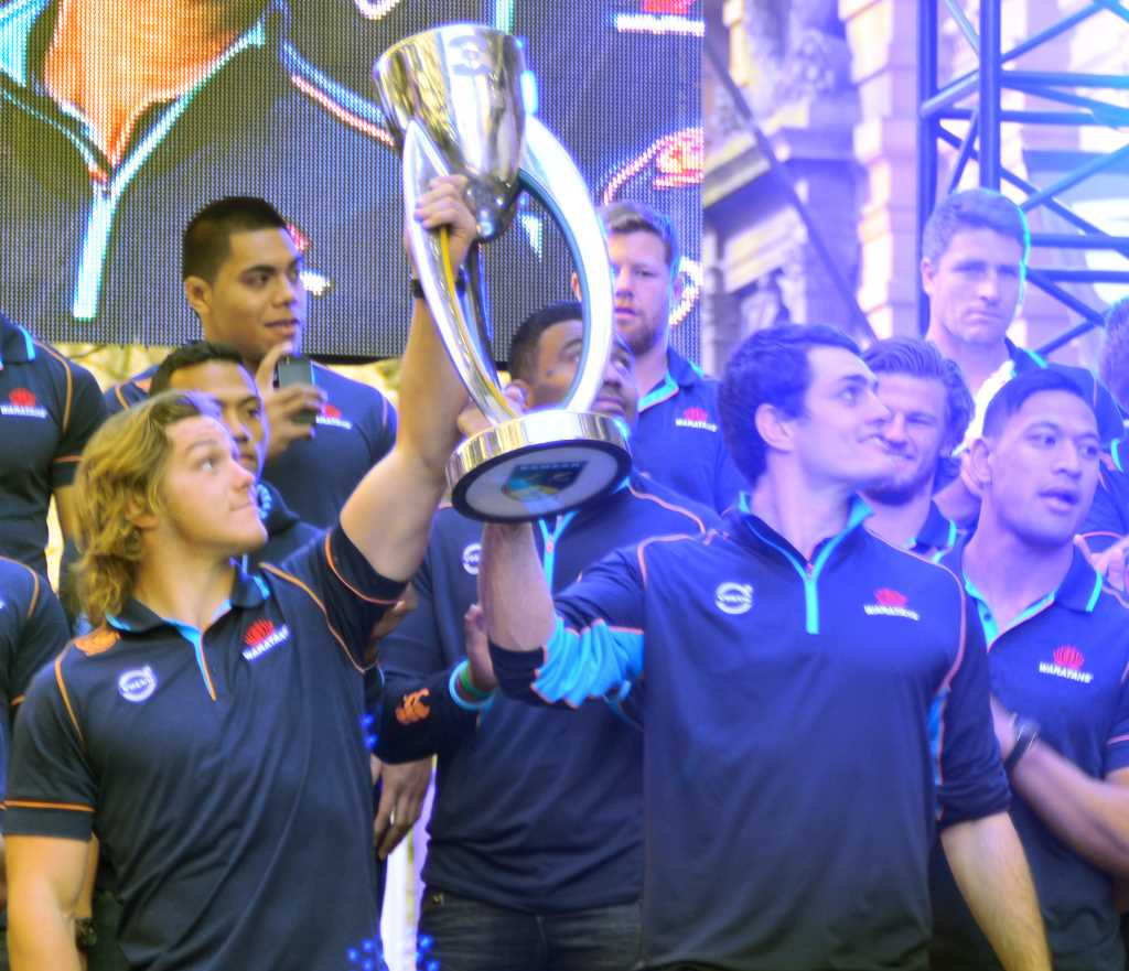 Green And Gold Rugby Gps 2018: Waratahs Victory Celebration At Martin Place