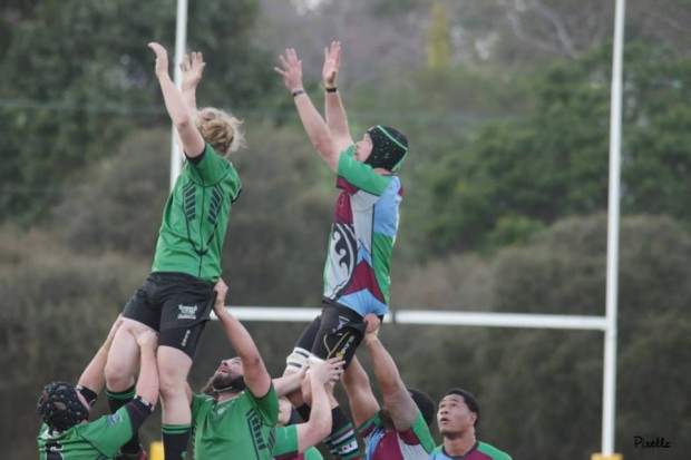 Harlequins Jeff Altman fly's in the lineout - photo credit Lisa Maree Ford