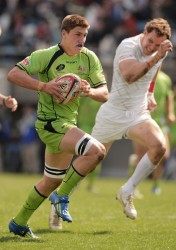 Sean McMahon playing 7s for Australia - photo Getty