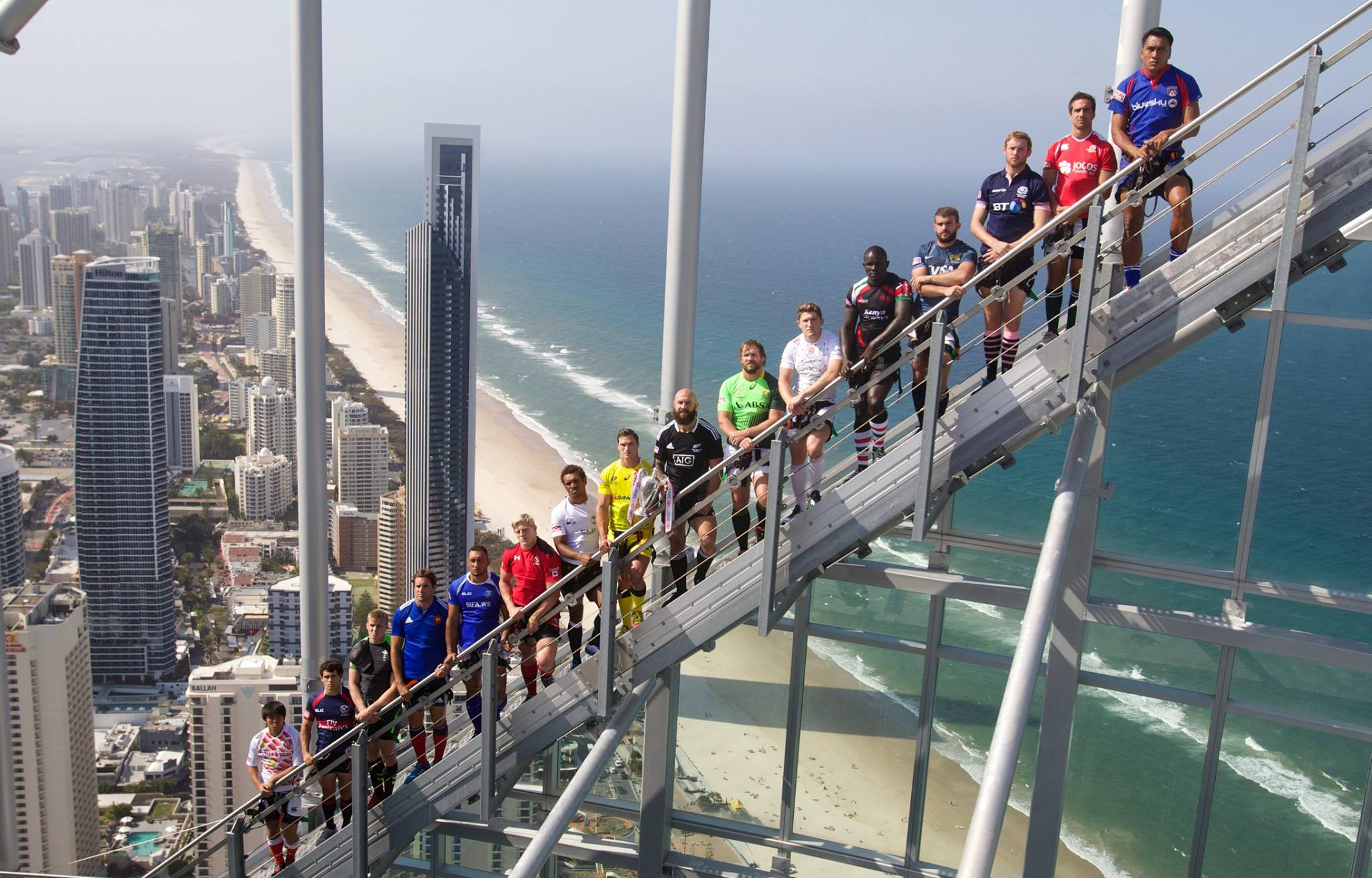 Gold Coast 7s Captains meet on floor 77 of Australia's tallest building