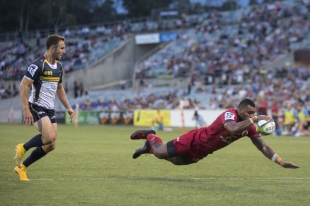 Kerevi dives over, but it's brought bacl