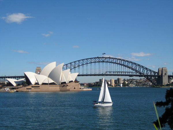 Sydney Harbour Bridge - Opera House - Green and Gold Rugby