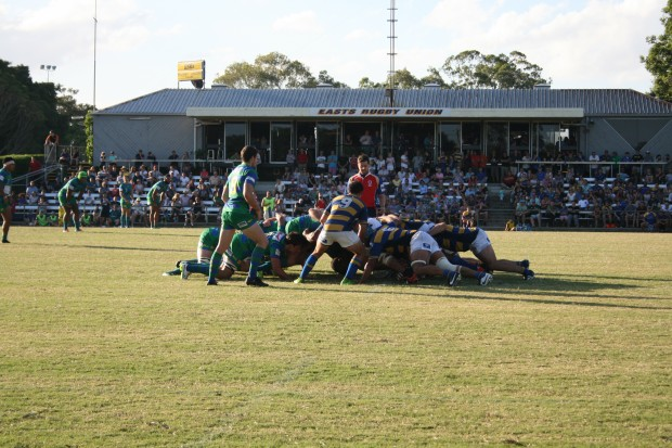 Scrum between Easts and GPS at Bottomley Park.