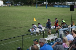 The story of Brothers first  half. Beauchamp and Cliff Tupou watch on from the sin-bin.
