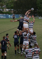 Brothers steal a Bond lineout.