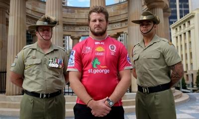 St.George Queensland Reds ANZAC Jersey Launch - James Slipper, C