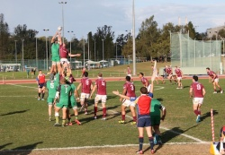 University dominated the lineout