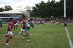 Rex Tapuai scores a consolation try for Sunnybank