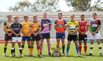 during the 2015 NRC Media Launch at Ballymore Stadium on August 19, 2015 in Brisbane, Australia.