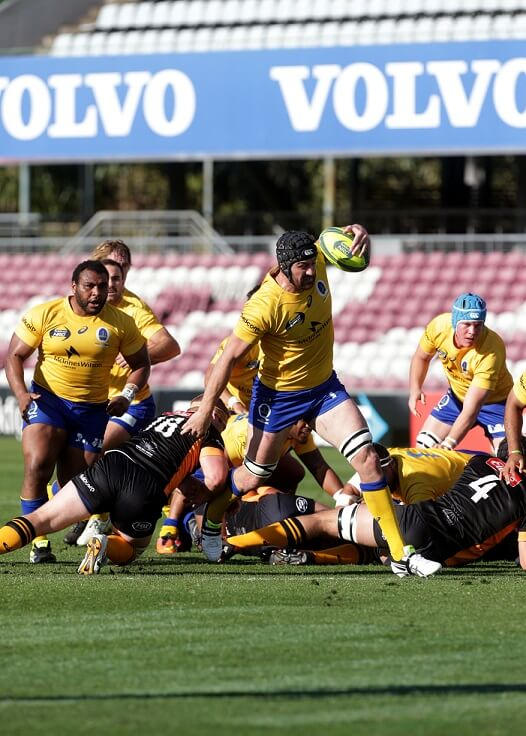 Caderyn Neville on the charge for his try (Photo Credit: QRU/Sportography)