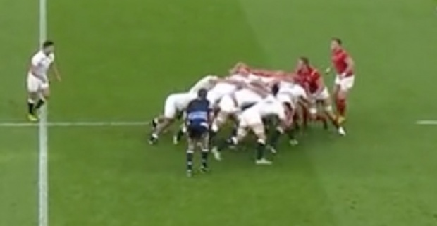 England vs Wales Scrum analysis first scrum