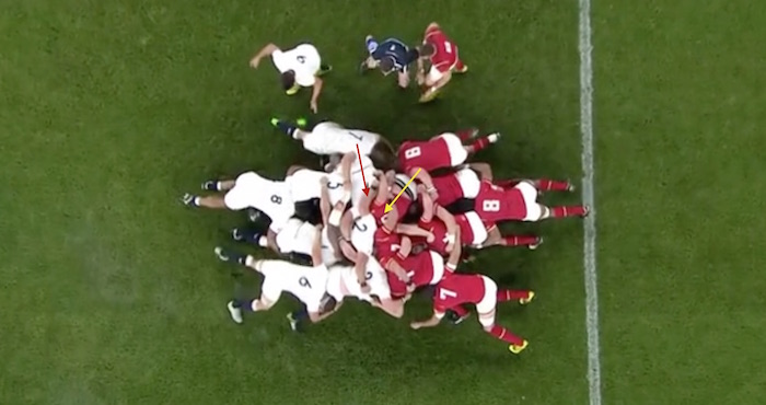 England vs Wales Scrum analysis third scrum
