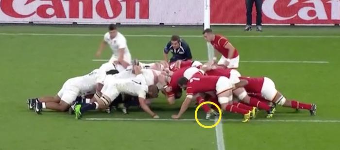 England vs Wales Scrum analysis fourth scrum