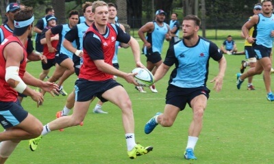 Bryce Hegarty at first Tahs' training session