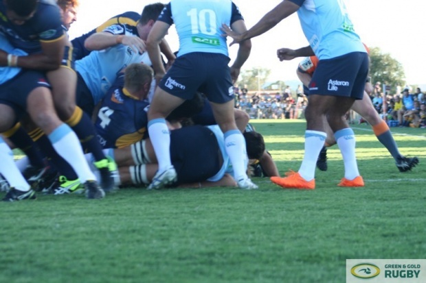 Josh Mann-Rea scores the first Brumbies try