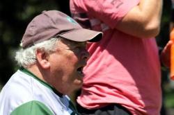 Randwick legend Jeff Sayle cheers the boys on.