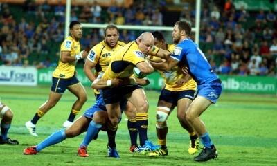 Stephen Moore tackled by Semisi Masirewa