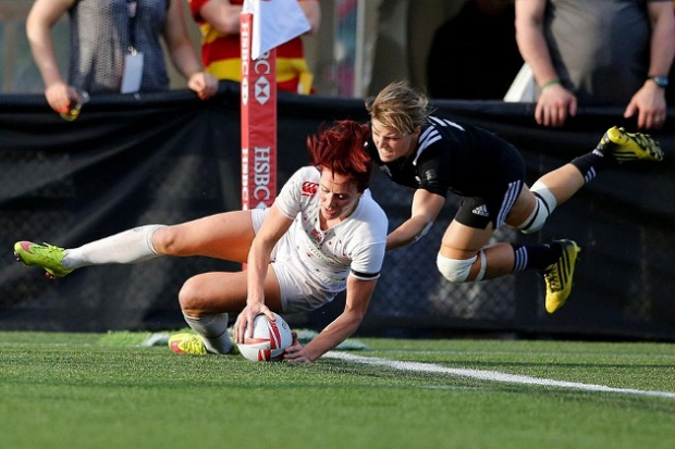 Joanne Watmore scores to clinch game - Photo credit World Rugby