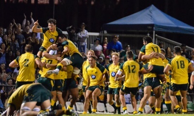 Australia celebrate their nail-biting win