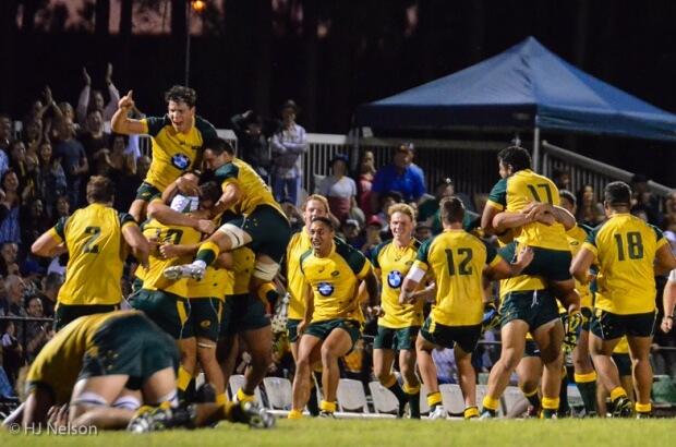Australia celebrate their nail-biting win