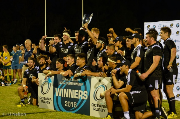 New Zealand retain the Oceania Rugby U20s Championship trophy