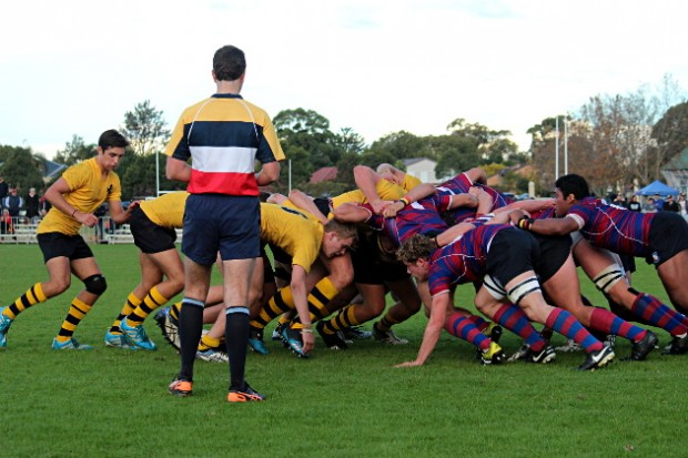 Scrum time at Hunters Hill