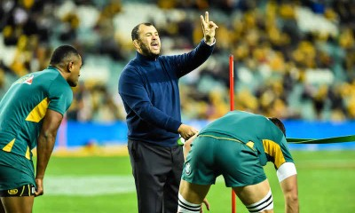 Cheika about to conduct a physical - Photo by Keith McInnes