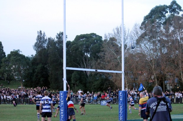 Winning kick by Lachlan Day flies over the crossbar