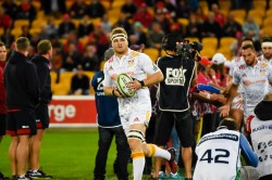 Sam Cane leads out the Chiefs