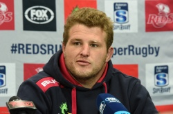 Reds Captain James Slipper at the Reds v Chiefs post-match press conference