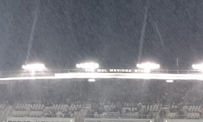 Terrible conditions during the Brumbies v Highlanders QF