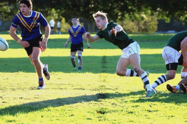 Trinity's scrumhalf Cooper Chambers gave good service to his backs