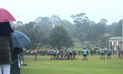 Umbrella defence time at Riverview